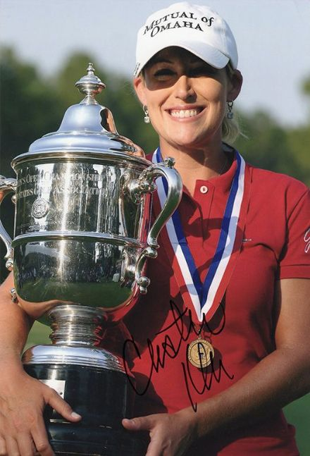 Cristie Kerr, signed 12x8 inch photo.(2)